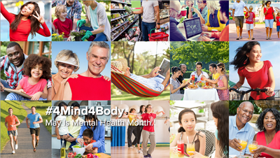 #4Mind4Body Focuses on Fitness 'Head to Toe, Inside and Out' During Mental Health Awareness Month in May