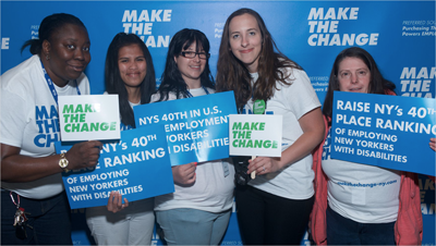 New Yorkers with Disabilities Urge Legislators to 'MAKE THE CHANGE'